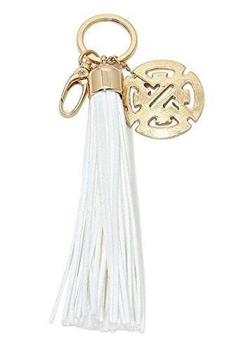 rosemarie-colecciones-de-la-mujer-llavero-bolso-charm-blanco-borla-de-flecos-trendy