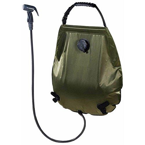 MFH Solar Dusche Deluxe ca 20 l mit Thermometer Solardusche Campingdusche Garten Brause Camping Thermometer