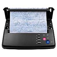 LUCKYAN Máquina de Transferencia de Tatuajes Impresora de Plantillas Fácil de Usar fotocopiadora térmica con 5 Papeles de Transferencia