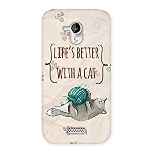 Neo World PremiumBetter Life with Cat Back Case Cover for Micromax Canvas HD A116
