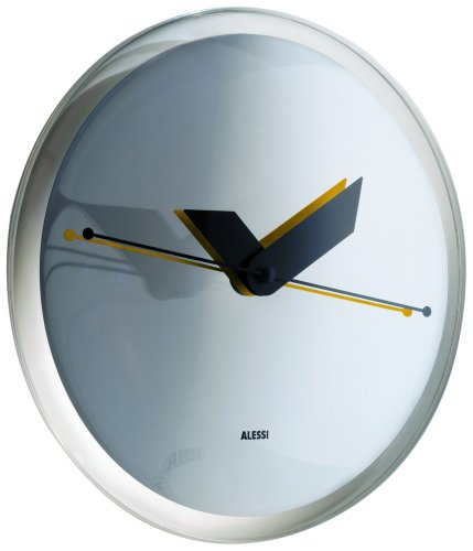 Alessi Sole-Mirror Wall Clock, (AM31 4)