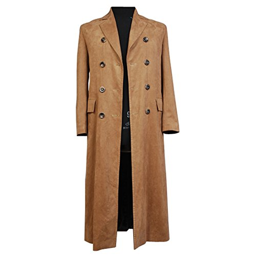 Who is Doctor Dr. braun lange Graben Mantel Suit Kostüm (M-Herren) (Doctor Who Cosplay)