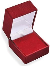EYS JEWELRY® Schmuck-Etui für Ohrstecker 43 x 47 x 39 mm Samt bordeaux-rot Ohrring-Box Schachtel Schatulle Geschenk-Verpackung EYSBOX