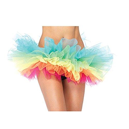 Mini Falda De Ballet Skirt, ❤️Xinantime Falda de tutú de Organza Arcoiris para Mujer Falda Corta del Vestido de Baile