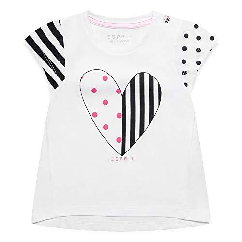 ESPRIT KIDS Baby-Mädchen SS T-Shirt, Weiß (White 010), Herstellergröße: 80 (Kids Für Mädchen)