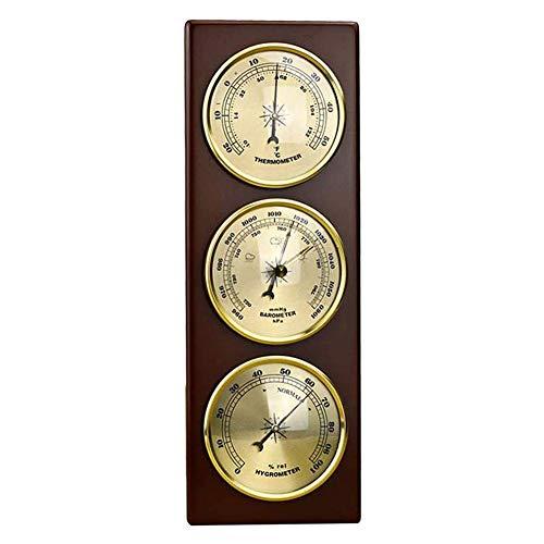 FIREUO Barómetro de Pared Termómetro Higrómetro Estación Meteorológica Colgante Hogar/Oficina Material...