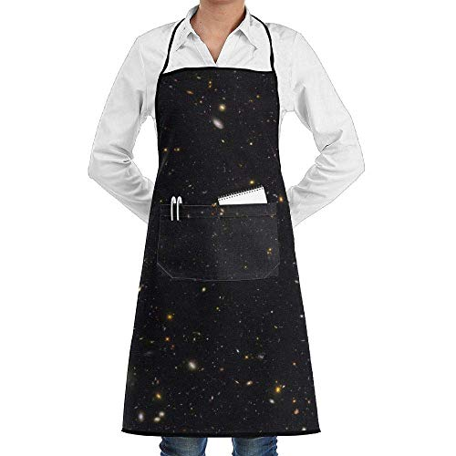 dfgjfgjdfj Galaxy History Schürze Lace Unisex Mens Womens Chef Adjustable Polyester Long Full Black Cooking Kitchen Schürzes Bib with Pockets for Restaurant Baking Crafting Gardening BBQ Grill (Black History Kostüm)
