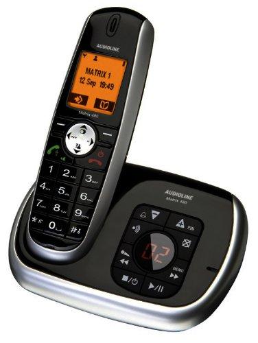 Audioline Matrix 480 Schnurlostelefon mit Anrufbeantworter (DECT)