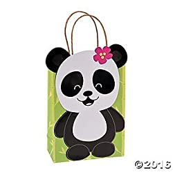 Paper Panda Party Kraft Gift Bags 12 Ct