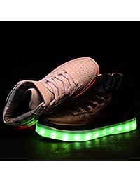 (Presente:peque?a toalla)Blanco - blanco EU 36, carga hombres zapatos LED Zapatillas Unisex Casual zapatos de par mujeres 8 JUNGLEST? para luminoso llanas LED zapatos luce