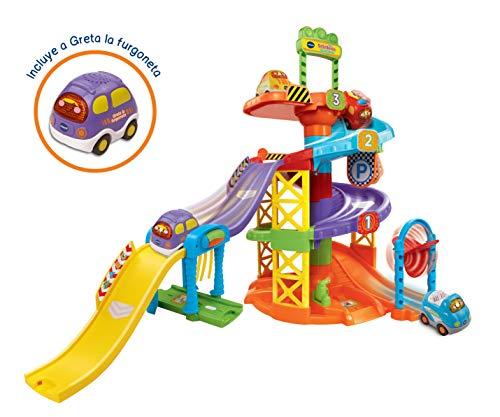 VTech - Aparcamiento con coche, juguete con sonido, Tut Tut Bólidos (3480-152722)