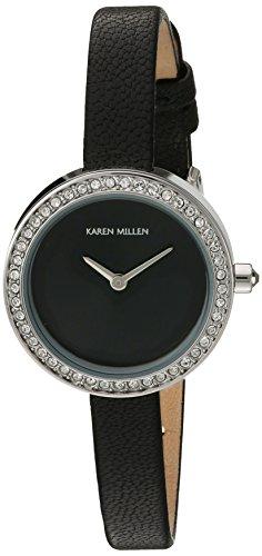 Karen Millen KM146BA - Reloj de pulsera Mujer, color Negro