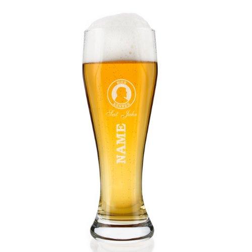 Privatglas Weizenglas 0,5l (Bohemia) - Bier Kenner- mit Gratis Gravur des gewünschten Namens und Geburtsjahr