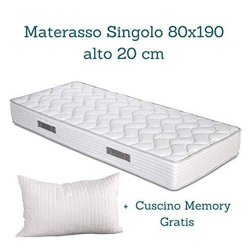 Evergreenweb - Kit Rete e Materasso Singolo 80x190 Alto 20 cm con ...