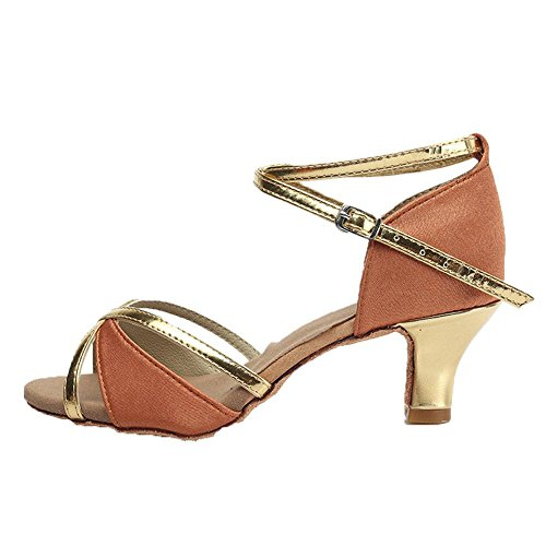 YFF La Vendita calda commercio all'ingrosso di donne latino ragazze scarpe da ballo sala da ballo tango salsa scarpe da donna scarpe da ballo in 4 colori Brown 5cm
