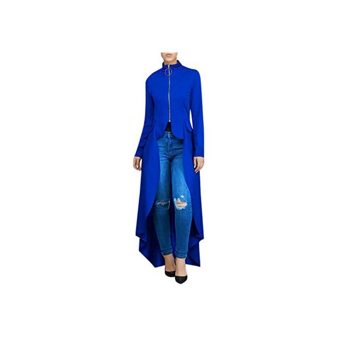 URSING Maxikleider Damen Rundhals Solide Hebrst Kleid Mode unregelmäßiger Strandkleid Festlich Kleider Lang Damenkleider…