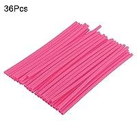 SUPEWOLD 36PCS Wheel Spoke Wraps,Dirt Bike/Street Bike/Motocross Spoke Skins Rims Covers Road Guard Wraps Coats(pink)