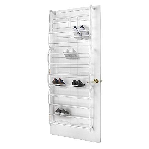 Mse Over-The-Door Steel Shoe Rack, 36-Pair, White