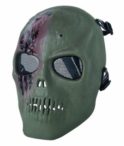 GSG Totenkopfmaske, grün-braun, 203897