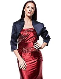 atopdress@ 7 Colours satin jacket all size bridal Bolero shrug bridemaids evening prom dress jacket