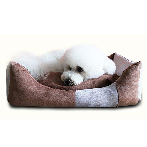 Chongwucx inverno impronte digitali panno doghouse, teddy bichon cane pad, confortevole warmer dog house, golden hair non appiccicosa, resistente all'umidità canile: 68 * 49 centimetri/brown, m