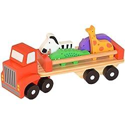 Tooky Toy TKB380 - Camión y animales de madera