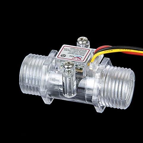 maltonyo171–30L/min Wasser Durchflusssensor Flowmeter Hall Durchfluss Sensor Wasser Kontrolle (Rh Außengewinde)