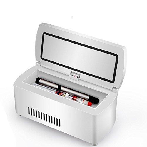 Preisvergleich Produktbild Mini Tragbares Insulin Gekühlter Kasten 2-8 ° Konstanter TemperatureDual Zweck Nachladbarer Medizin-Kühlraum Verwendbar Für Reiseauto Und Ausgangsminikühlschränke White-187 * 80 * 67mm