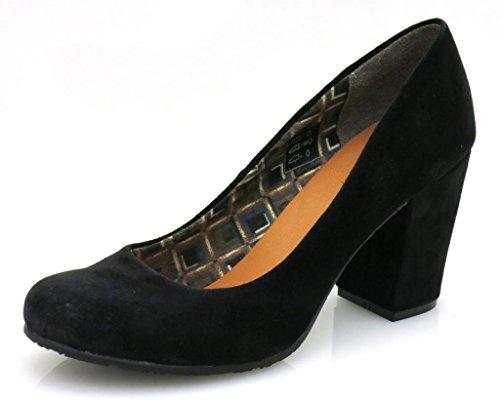 Depeche wildlederpumps chaussures pour femmes chaussures, escarpins femme Noir - Noir