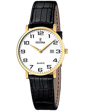 Festina Damen-Armbanduhr XS Klassik Analog Quarz Leder F16479/1