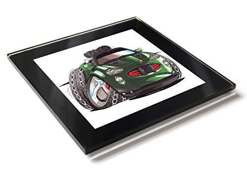 Koolart Cartoon Movie Cars James Bond 007 Jaguar XKR - Posavasos de cristal con caja de regalo