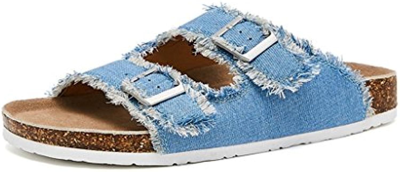 JIANXIN Sandali Femmina Pantofole Piatte Denim Blu Casuale Pantofola Design Fibbia della Cintura 35-38 Metri (...   Di Alta Qualità    Scolaro/Signora Scarpa