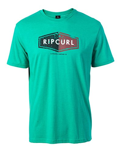 rip-curl-losange-logo-tee-maglietta-deep-green-marl-m