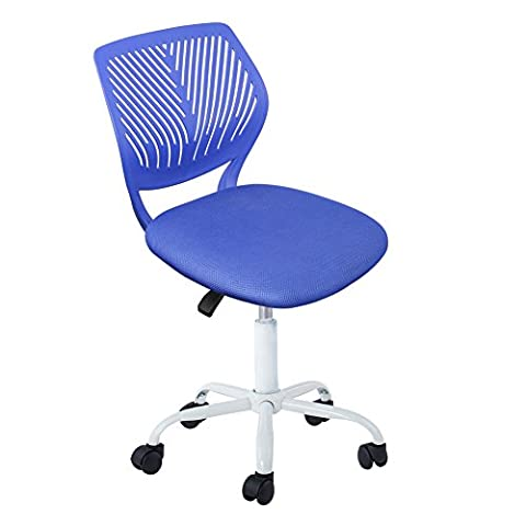 Study Chair, IntimaTe WM Heart Low Back Swivel Adjustable Desk Office Task Chair Home Kids Study Chair,Blue