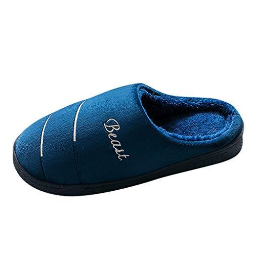 Watopi Winter Baumwolle Pantoffeln Home rutschfeste Slippers für Damen Herren Flauschige Hausschuhe Super Warme Plüsch Hausschuhe und Indoor Weiche rutschfeste Slippers