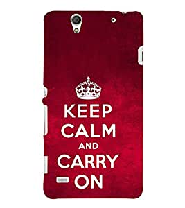 Carry On Quote 3D Hard Polycarbonate Designer Back Case Cover for Sony Xperia C4 Dual :: Sony Xperia C4 Dual E5333 E5343 E5363