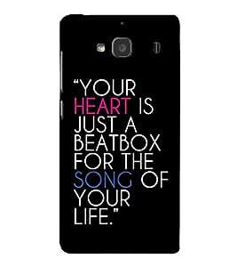 FUSON Your Heart Is Song 3D Hard Polycarbonate Designer Back Case Cover for Xiaomi Redmi 2 :: Xiaomi Redmi 2S :: Xiaomi Redmi 2 Prime