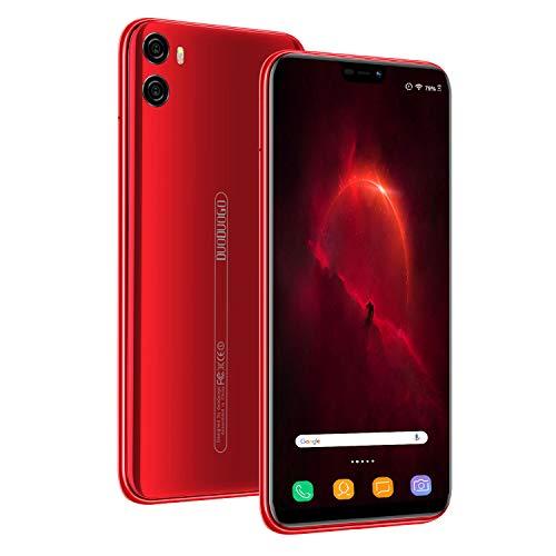 smartphone offerta del giorno 4g, 4gb+ 64gb, cellulari offerte 5.85 schermo, 4200mah smartphone android 8.1,doppia fotocamera 13mp dual sim telefonia mobile offerta (rosso)