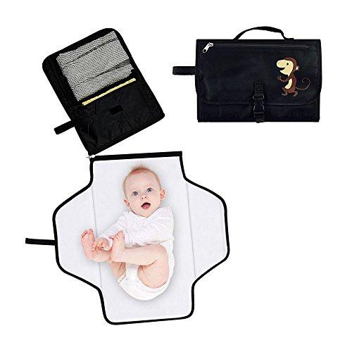 Locisne Tragbare Baby Windel Wickelauflage Waterproof Windel Clutch Bag Kit mit Lagerung für Reisen Faltbare Baby Wickel Kit halten Baby sauber und sicher(Wickelmatte) (Flugzeug Wickelunterlage)