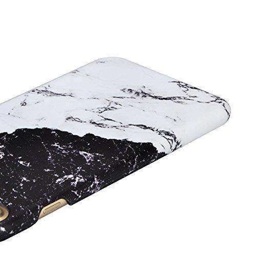 iPhone 7 Hülle,iPhone 7 Case,Sunroyal Cool Retro Kreativ Schwarz Weiß Marble Marmor Ultra Dünne Slim Hart PC Case Hülle Haut Zurück prägen Bunte Malerei Pattern Schutzhülle Cover Hart Rückseite Handyt Pattern 05