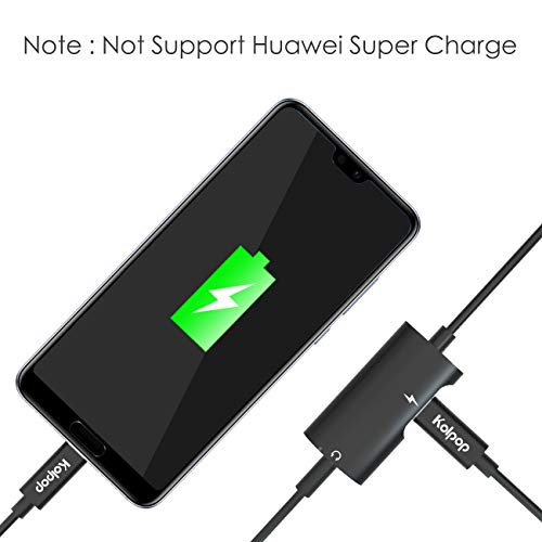 Aux USB C Adapter, Kolpop 2 in 1 USB C auf Klinke Typ C auf 3.5 mm Jack Kopfhörer Adapter mit Ladekabel für Huawei P20 / P20 Pro/Mate 10 Pro/Mate 20 Pro/Mediapad M5, Xiaomi 6/8, Sony Xperia XZ2 - 4