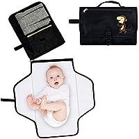 Locisne Portable Baby Nappy Changing Mat Impermeable Pañal Embrague Kit de bolsa con almacenamiento para viaje plegable Baby Changing Kit Mantenga a bebé limpio y seguro