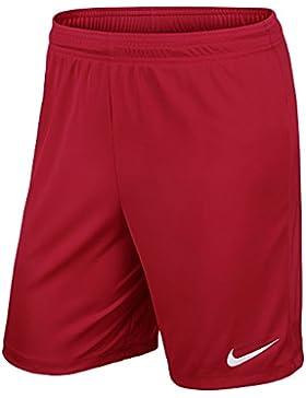 Nike YTH Park II Knit Short WB - Pantalón Corto para Niño, Color Rojo/Blanco (University Red/White), Talla XL