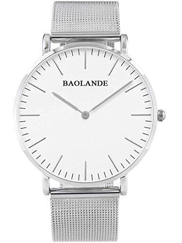 Alienwork-Classic-StMawes-Quarz-Armbanduhr-elegant-Quarzuhr-Uhr-modisch-Zeitloses-Design-klassisch-silber-Metall-U04916G-01