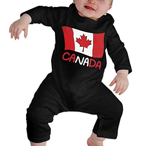 PEKSIN Canadian Flag Canada Newborn Baby Long Sleeve Romper Jumpsuit Baby Rompers 12M -