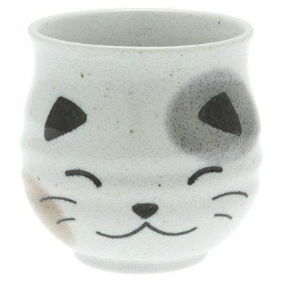 Sushi Tea Cup White Smiling Callico Cat by Kotobuki - Kotobuki-cup