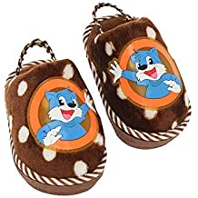 Ivy Home Stop Tom Printed Bath Slippers (Brown, Free Size)