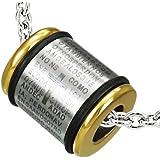 cored Edelstahl-Anhänger LEDERKETTE Halskette 50 cm Ring massiv mit lateinischer Inschrift Silber / Schwarz / Gold