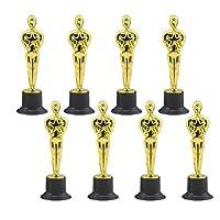 NUOBESTY Gold Award Trophies Trophy Statues Oscar Award Reward Prizes for Party Ceremony Appreciation Gift 10Pcs