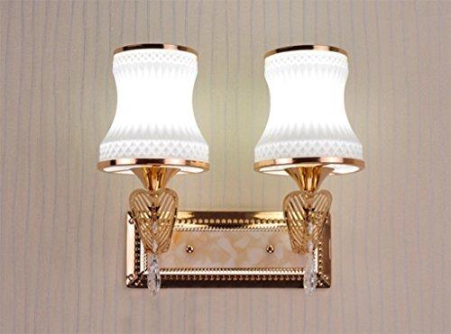 Applique double tête Lampe de chevet Chambre Simple Warm Salon Aisle verre LED Corridor Escalier Lumière